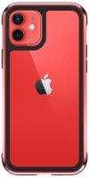 Wiwu Apple iPhone 11 Kılıf Defence Armor Serisi Arkası Şeffaf Lisanslı Kapak - Kırmızı
