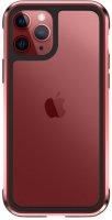 Wiwu Apple iPhone 11 Pro Max Kılıf Defence Armor Serisi Arkası Şeffaf Lisanslı Kapak - Kırmızı