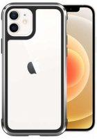 Wiwu Apple iPhone 12 (6.1) Kılıf Defence Armor Serisi Arkası Şeffaf Lisanslı Kapak - Gümüş