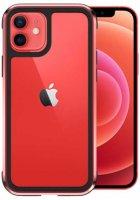 Wiwu Apple iPhone 12 (6.1) Kılıf Defence Armor Serisi Arkası Şeffaf Lisanslı Kapak - Kırmızı