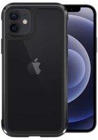 Wiwu Apple iPhone 12 (6.1) Kılıf Defence Armor Serisi Arkası Şeffaf Lisanslı Kapak - Siyah