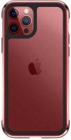 Wiwu Apple iPhone 12 Pro Max (6.7) Kılıf Defence Armor Serisi Arkası Şeffaf Lisanslı Kapak - Kırmızı
