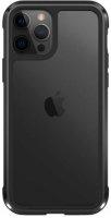 Wiwu Apple iPhone 12 Pro Max (6.7) Kılıf Defence Armor Serisi Arkası Şeffaf Lisanslı Kapak - Siyah