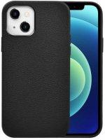 Wiwu Apple iPhone 13 (6.1) Kılıf Calfskin Serisi Deri Görünümlü Darbe Emici Kapak - Siyah