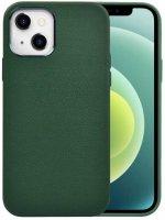Wiwu Apple iPhone 13 (6.1) Kılıf Calfskin Serisi Deri Görünümlü Darbe Emici Kapak - Yeşil