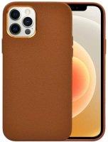 Wiwu Apple iPhone 13 Pro Max (6.7) Kılıf Calfskin Serisi Deri Görünümlü Darbe Emici Kapak - Kahverengi