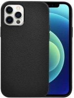 Wiwu Apple iPhone 13 Pro Max (6.7) Kılıf Calfskin Serisi Deri Görünümlü Darbe Emici Kapak - Siyah