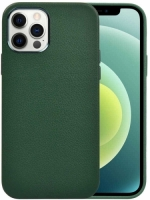 Wiwu Apple iPhone 13 Pro Max (6.7) Kılıf Calfskin Serisi Deri Görünümlü Darbe Emici Kapak - Yeşil