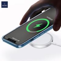 WiWU Apple iPhone 12 Serisi 15W MagSafe Hızlı Masaüstü Wireless QI Kablosuz Şarj Cihazı - Beyaz