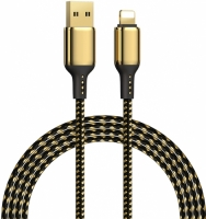 Wiwu Golden Serisi Apple Lightning Şarj Data Kablosu 1.2M - Gold