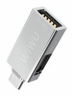 Wiwu T02 Type-C Hub USB Çıkış - Gri