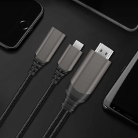 Wiwu X10 Type-C to HDMI Kablo Çevirici - Gri