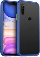 Xiaomi Redmi Note 8 Kılıf Exlusive Arkası Mat Tam Koruma Darbe Emici - Mavi
