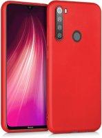 Xiaomi Redmi Note 8 Kılıf İnce Mat Esnek Silikon - Kırmızı