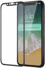 Apple iPhone 11 Pro Ekran Koruyucu Fiber Tam Kaplayan Nano - Siyah