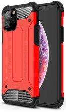 Apple iPhone 11 Pro Max Kılıf Zırhlı Tank Crash Silikon Kapak - Kırmızı