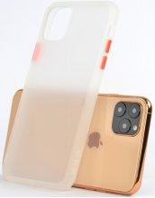 Apple iPhone 11 Pro Max Kılıf Exlusive Arkası Mat Tam Koruma Darbe Emici - Beyaz