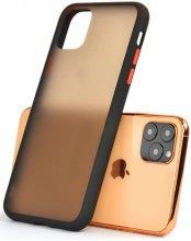 Apple iPhone 11 Pro Max Kılıf Exlusive Arkası Mat Tam Koruma Darbe Emici - Siyah