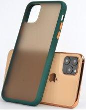 Apple iPhone 11 Pro Max Kılıf Exlusive Arkası Mat Tam Koruma Darbe Emici - Yeşil