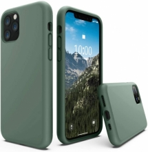 Apple iPhone 11 Pro Max Kılıf İçi Kadife Mat Yüzey LSR Serisi Kapak - Koyu Yeşil