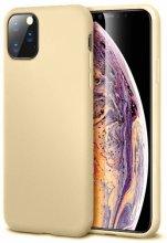Apple iPhone 11 Pro Max Kılıf İnce Mat Esnek Silikon - Gold