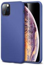 Apple iPhone 11 Pro Max Kılıf İnce Mat Esnek Silikon - Lacivert