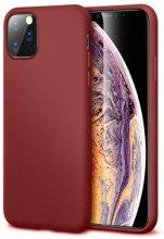 Apple iPhone 11 Pro Max Kılıf İnce Mat Esnek Silikon - Mürdüm