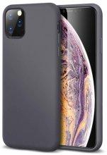 Apple iPhone 11 Pro Max Kılıf İnce Mat Esnek Silikon - Siyah