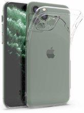 Apple iPhone 11 Pro Max Kılıf Kamera Korumalı 0.4mm Şeffaf Silikon Kapak