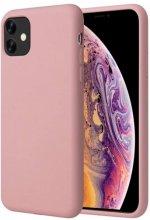 Apple iPhone 11 Pro Max Kılıf Liquid Serisi İçi Kadife İnci Esnek Silikon Kapak - Pudra