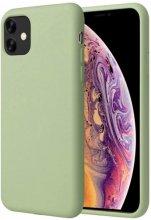Apple iPhone 11 Pro Max Kılıf Liquid Serisi İçi Kadife İnci Esnek Silikon Kapak - Yeşil
