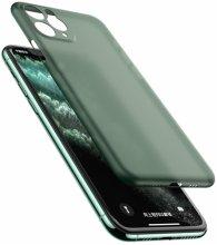 Apple iPhone 11 Pro Max Kılıf Mat Şeffaf Esnek Kaliteli Ultra İnce PP Silikon  - Yeşil