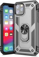 Apple iPhone 11 Pro Max Kılıf Zırhlı Standlı Vega Kapak - Gümüş