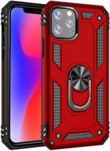 Apple iPhone 11 Pro Max Kılıf Zırhlı Standlı Vega Kapak - Kırmızı