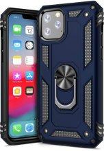 Apple iPhone 11 Pro Max Kılıf Zırhlı Standlı Vega Kapak - Lacivert