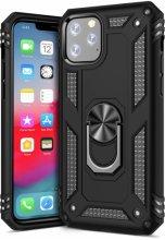 Apple iPhone 11 Pro Max Kılıf Zırhlı Standlı Vega Kapak - Siyah