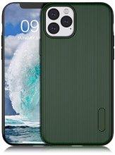 Apple iPhone 11 Pro Max Kılıf Silikon Çizgili Esnek Kaliteli Soft Tio - Yeşil