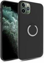 Apple iPhone 11 Pro Max Kılıf Silikon İnce Mat Esnek Parmak İzi Bırakmayan Plex Kapak - Siyah