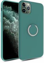 Apple iPhone 11 Pro Max Kılıf Silikon İnce Mat Esnek Parmak İzi Bırakmayan Plex Kapak - Turkuaz
