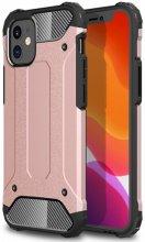 Apple iPhone 12 Mini (5.4) Kılıf Double Solid Armor Serisi Zırhlı Kapak - Rose Gold