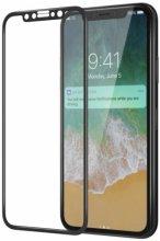Apple iPhone 12 (6.1) Ekran Koruyucu Fiber Tam Kaplayan Nano - Siyah