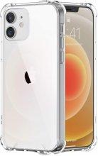 Apple iPhone 12 (6.1) Kılıf Clear Airbag Köşeli Darbe Korumalı Kapak - Şeffaf