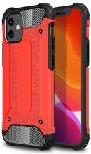 Apple iPhone 12 (6.1) Kılıf Double Solid Armor Serisi Zırhlı Kapak - Kırmızı