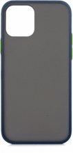 Apple iPhone 12 (6.1) Kılıf Exlusive Arkası Mat Tam Koruma Darbe Emici - Mavi