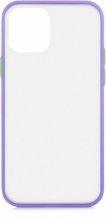 Apple iPhone 12 (6.1) Kılıf Exlusive Arkası Mat Tam Koruma Darbe Emici - Mor