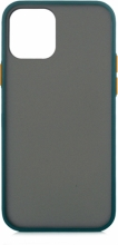 Apple iPhone 12 (6.1) Kılıf Exlusive Arkası Mat Tam Koruma Darbe Emici - Yeşil