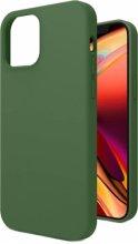 Apple iPhone 12 (6.1) Kılıf İçi Kadife Mat Yüzey LSR Serisi Kapak - Koyu Yeşil
