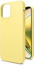 Apple iPhone 12 (6.1) Kılıf İçi Kadife Mat Yüzey LSR Serisi Kapak - Sarı