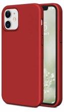 Apple iPhone 12 (6.1) Kılıf İnce Mat Esnek Silikon - Kırmızı