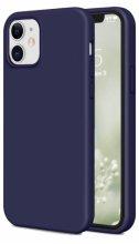 Apple iPhone 12 (6.1) Kılıf İnce Mat Esnek Silikon - Lacivert